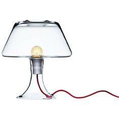 Classic One Modern Glass Table Lamp / designed by Maria Berntsen Interior Lighting, Lighting Design, Lighting Ideas, Shops, Light Up, Bulb, Glass Table, Classic, Modern Glass