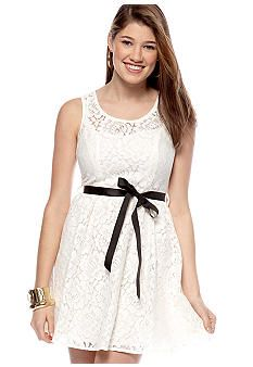 sweet and short ivory lace dress.