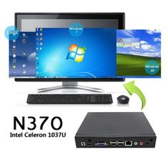 2G RAM 32G SSD Newest mini games pc mini gaming desktop pc with Intel Celeron 1037U dual core 1.8GHZ windows 7 mini pc with fan