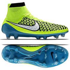 Nike WMNS Magista Obra FG 718754-487 Volt/Blue Lagoon/Black Women's Soccer Cleats * Click image for more details.