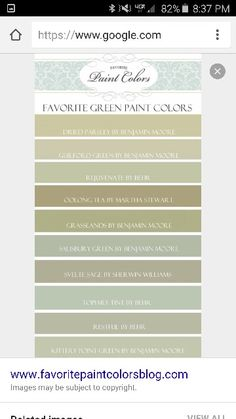 Favorite green paint colors
