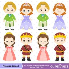 Princess Digital Clipart Princess Clipart Royal by Cutesiness