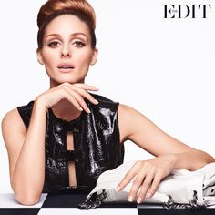 OLIVIA-PALERMO POSES IN 1960S FASHIONS FOR THE-EDIT
