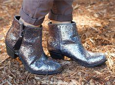 glitter booties #kohls #PrincessVeraWang #JBrandJeans