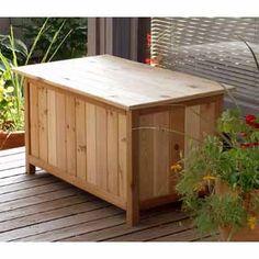 Amazon.com Storage Box (Cedar) (19 H x 35  & Cedar Storage Bench | Patio | Pinterest | Storage benches Storage ...