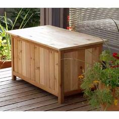 make this outdoor storage bench instead of buying it you can do it build stuff pinterest outdoor storage benches planters and its you