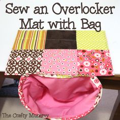 Tutorial: Overlocker/ Serger Mat with Bag to catch the trimmings #tutorials #sewing