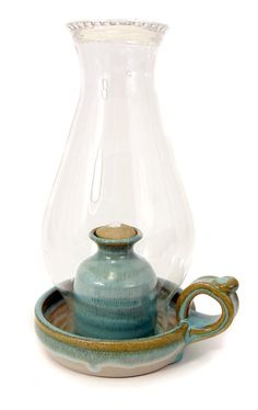 Handmade Pottery Oil Lamp – by Hertz Pottery « ColorMeTurquoise