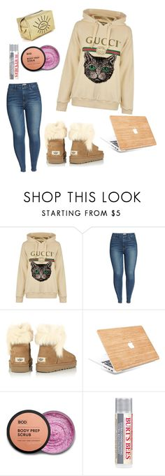 """""""Netflix & Chill"""" by alby-coco ❤ liked on Polyvore featuring Gucci, Good American, UGG, Burt's Bees, cozy, comfy and Hoodies"""