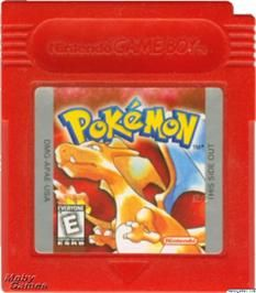 Cartridge artwork for Pokemon - Red Version on the Nintendo Game Boy. Gameboy Pokemon, Pokemon Red, Nintendo Games, Pokemon Game Boy, Used Video Games, View Video, Tv Commercials, Games To Play, Childhood