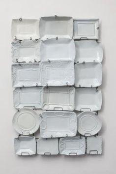 Ann Agee wall mural (plus more white plate wall art)