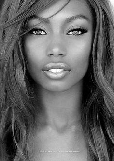 La beauté en noir et blanc
