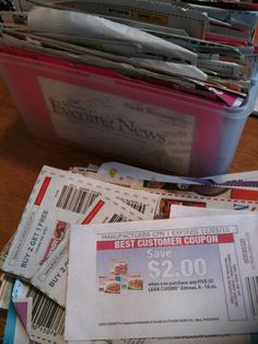 This is how I organize my coupons: Index card box and index cards. I've done it this way for 25 years ... and it's worked just as well in Monroe MI as it did in Fremont OH and the cities I lived in when I was in college.