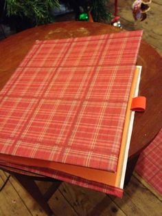 I covered both books in the same sticky backed fabric