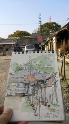 ご近所スケッチ - 山田久仁夫のホームページ・Watercolor by Kunio Yamada
