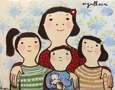 "79 Me gusta, 1 comentarios - Ode To Art (@odetoartgallery) en Instagram: ""A mother and her pride. By Spanish artist, Eva Armisen. A happy Monday to y'all! #evaarmisen…"""