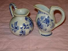 2 Small Delft Holland Collector Pitchers | eBay