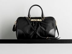 """Moschino Fall/Winter 12-13: """"classic"""" to the letter!    #moschino #bag #icon #black"""