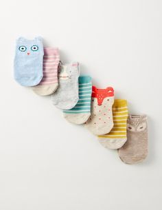 7 Pack Animal Socks | Boden