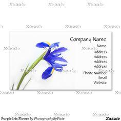 Purple Iris Flower Business Cards