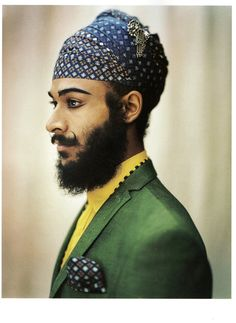 Sikh Artist Jatinder Singh Durhailay, photographed by Mark Lebon and styled by Julian Ganio. Visit his website at: http://www.durhailay.com/