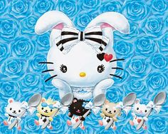 In wonderland Hello Kitty is transformed into a white bunny kawaii shop modes4u.com