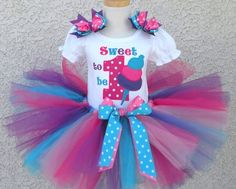 Personalized Sweet Super Sour Candy 1st Birthday Tutu Outfit