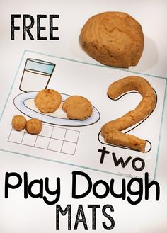 1 free cookie play dough mats for numbers are great for counting, adding, learning numbers and so much more! They are also especially great for fine-motor skills! Numbers Preschool, Learning Numbers, Preschool Learning, Preschool Curriculum, Early Learning, Fun Learning, Kindergarten Math, Teaching, Homeschooling