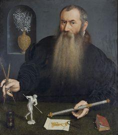 """""""Portrait de l'orfèvre Wemzel Jamnitzer"""" de Nicolas de Neufchâtel (1525-1573), vers 1562-63 Huile sur toile, 92.5 x 80 cm  / Genève, Musée d'art et d'histoire, Inv. 1825-23"""