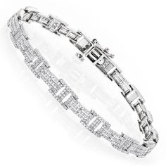 Luxurman 14k Gold 2 1/5ct TDW Diamond Bracelet