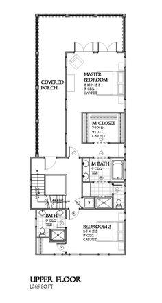 Beach Style House Plan - 3 Beds 3.00 Baths 2157 Sq/Ft Plan #901-113 Floor Plan - Upper Floor Plan - Houseplans.com