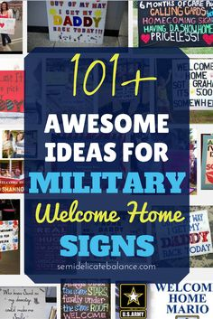 Awesome Ideas for Military Welcome Home Signs, Military Spouse, Deployment Military Homecoming Signs, Military Signs, Military Deployment, Military Spouse, Homecoming Ideas, Marine Homecoming, Marine Graduation, Deployment Party, Military Families