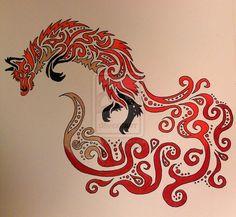 Autumn Breeze [Tribal Fox] by ~TheRebornWolf on deviantART
