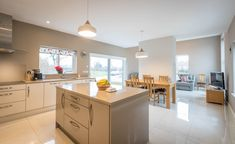 Modern but welcoming! Beautiful Kitchen Designs, Beautiful Kitchens, House Designs Ireland, Dormer Bungalow, Cottage Extension, Farmhouse Renovation, Architect House, House Numbers