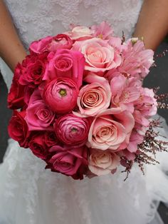 Ombre Wedding Bouquetlove The Pink