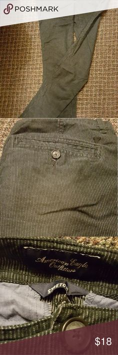 American eagle black and white pin stripe pants Perfect condition. Professional crisp and clean style. Size 0 long in length. American Eagle Outfitters Pants Skinny