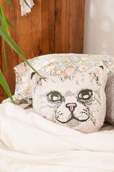 Sherpa Cat Pillow