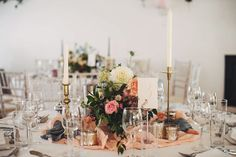 Stunning Table Centrepieces for Lisa & Michaels Wedding