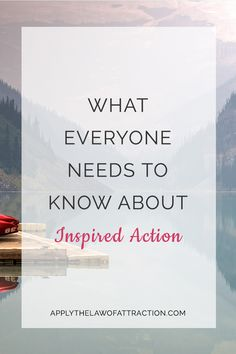 Will the Law of Attraction work without action? Find out how inspired action ties into the Law of Attraction. Know when, and if, you should take action.