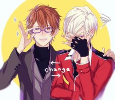Mystic Messenger Fanart, Anime Friendship, Video Game Anime, Anime Crossover, Cute Anime Boy, Ensemble Stars, Drawing Poses, Touken Ranbu, Pop Culture