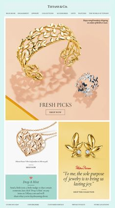 email newsletter #newsletter #design #email #emailnewsletter #layout #newsletterlayout Jewelry Ads, Photo Jewelry, Jewelry Branding, Jewelry Stores, Vintage Jewelry, Jewelry Design, Fashion Jewelry, Web Design, Email Design