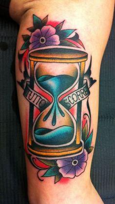 Samuele Briganti - hourglass tattoo