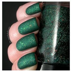 NOTD and eye candy Cult Nails Toxic Seaweed over Catrice King Of... ❤ liked on Polyvore featuring beauty products and nail care