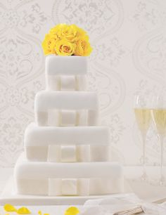 4 Tier Elegant Assorted Wedding Cake | M&S