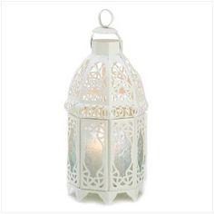 White Lattice Lantern Model  13364