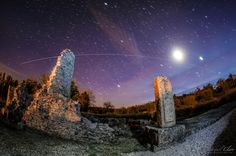 The International Space Station flies over the Roman city of Ammaia in this image taken by astrophotographer Miguel Claro in the summer of 2015.