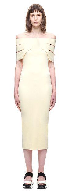 Wrapped Off-shoulder Midi Dress