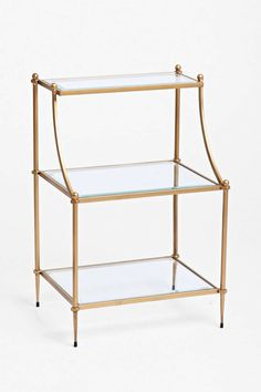 Regency Side Table - love this as side table option (brass)
