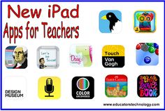 A Round-up of 12 New Educational iPad Apps for Teachers