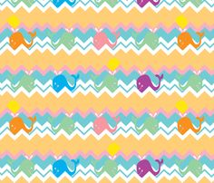 chevron whale ©2012 Jill Bull fabric by palmrowprints on Spoonflower - custom fabric